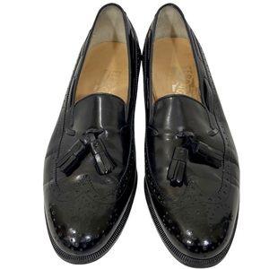 Salvatore Ferragamo black tassel loafers size 6.5